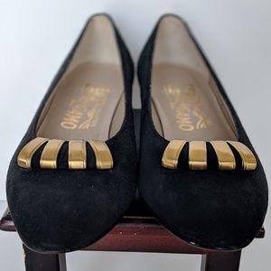 Salvatore Ferragamo Suede Heels - LIKE NEW  4.5B